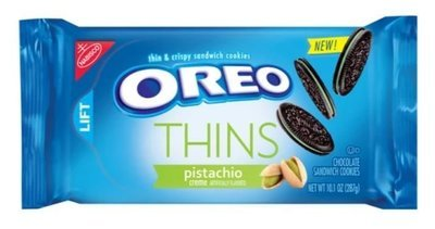 Sandwich Cookies, Nabisco® Oreo Thins Pistachio® Sandwich Cookies (10.1 oz Bag)