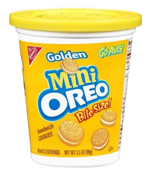 Sandwich Cookies, Nabisco® Oreo Golden® Mini Go-Paks™ Sandwich Cookies (3.5 oz Cup)