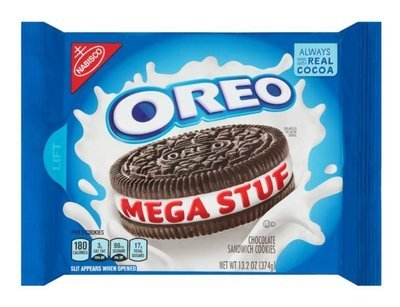Sandwich Cookies, Nabisco® Oreo® Mega Stuf™ Sandwich Cookies (13.2 oz Bag)