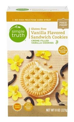 Sandwich Cookies, Simple Truth™ Gluten Free Vanilla Sandwich Cookies (8 oz Box)