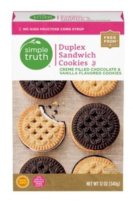 Sandwich Cookies, Simple Truth™ Duplex Sandwich Cookies (12 oz Box)