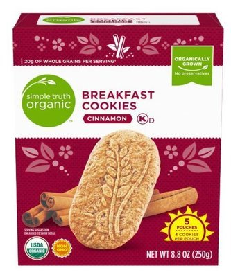Cookies, Simple Truth Organic™ Cinnamon Breakfast Cookies (8.8 oz Box)