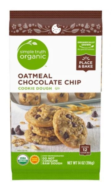 Cookie Dough, Simple Truth Organic™ Oatmeal Chocolate Chip Cookie Dough (14 oz Bag)