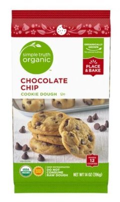 Cookie Dough, Simple Truth Organic™ Chocolate Chip Cookie Dough (14 oz Bag)