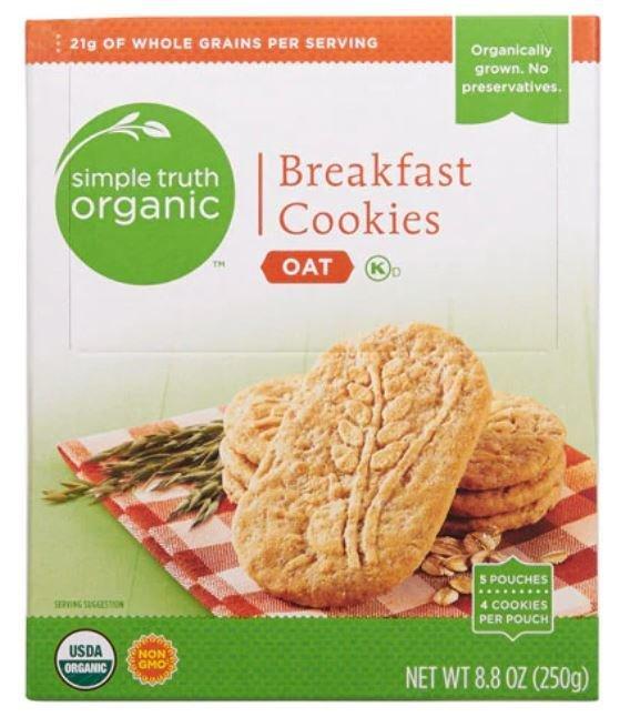 Oatmeal Cookies, Simple Truth Organic™ Oat Breakfast Cookies (8.8 oz Box)