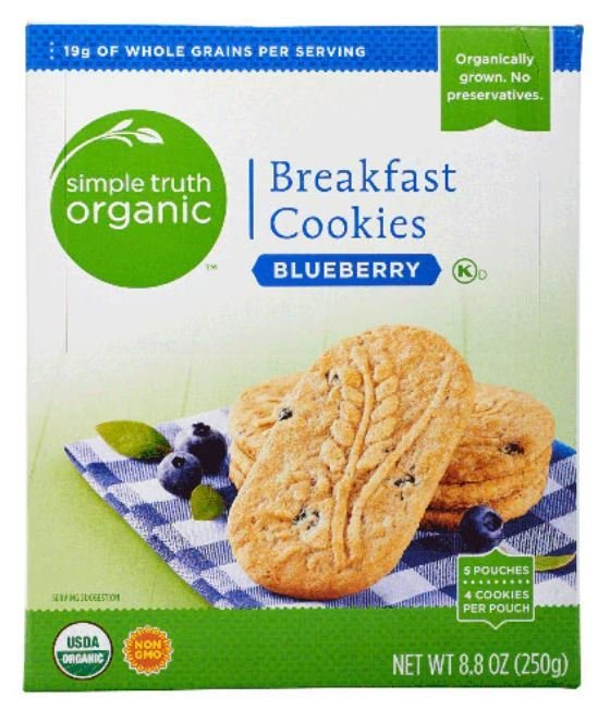 Cookies, Simple Truth Organic™ Blueberry Breakfast Cookies (8.8 oz Box)