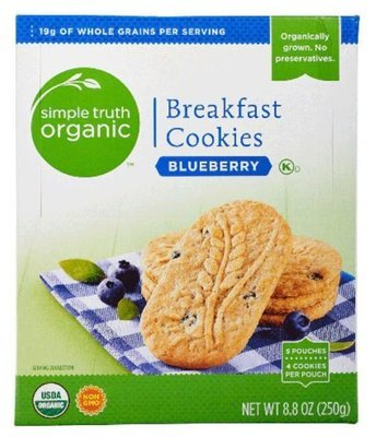Cookies, Simple Truth Organic™ Blueberry Breakfast Cookies (8.8 oz Box)