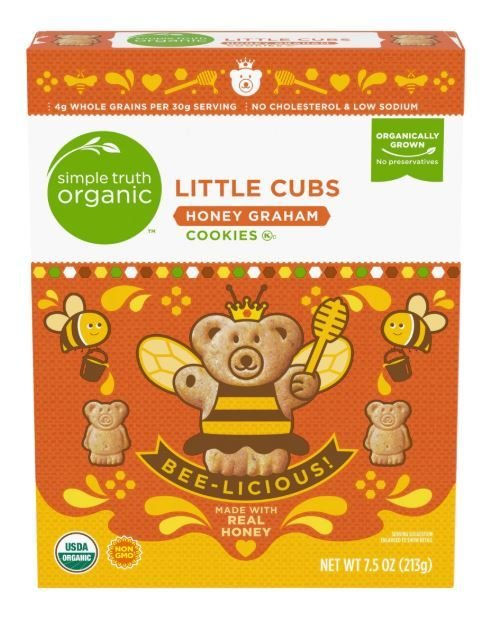 Cookies, Simple Truth Organic™ Little Cubs Honey Graham Cookies (7.5 oz Box)