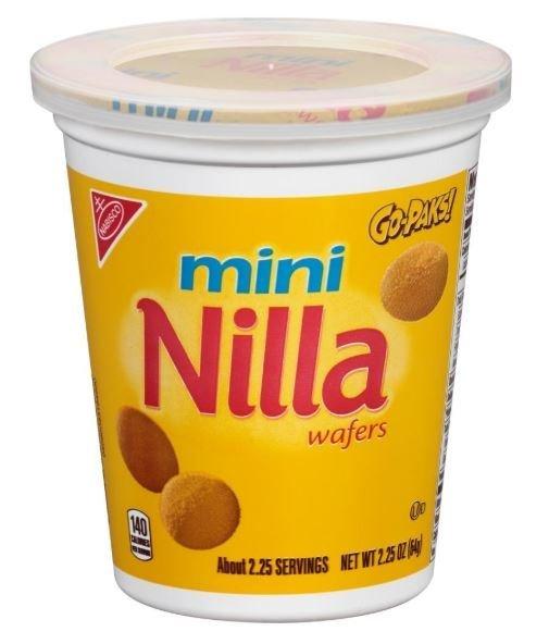 Sandwich Cookies, Nabisco® Nilla Wafers® Mini Go-Paks™ Cookies (2.25 oz Cup)
