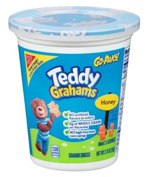 Crackers, Nabisco® Teddy Grahams® Honey Go-Paks™ Crackers (2.75 oz Cup)