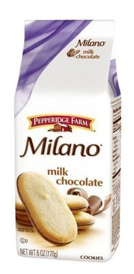 Cookies, Pepperidge Farm® Milano™ Milk Chocolate Cookies (6 oz Bag)