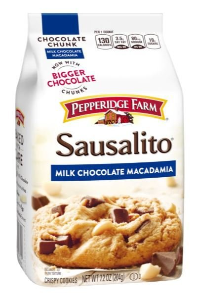 Cookies, Pepperidge Farm® Sausalito™ Milk Chocolate Macadamia Cookies (7.2 oz Bag)