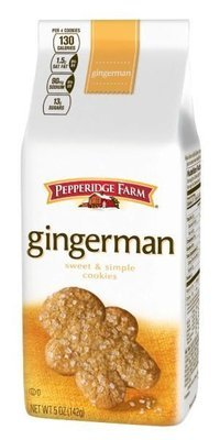 Cookies, Pepperidge Farm® Sweet & Simple™ Gingerman Cookies (5 oz Bag)