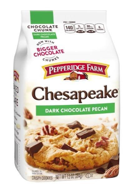 Cookies, Pepperidge Farm® Chesapeake™ Dark Chocolate Pecan Cookies (7.2 oz Bag)
