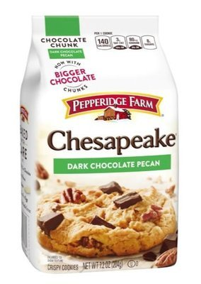 Cookies, Pepperidge Farm® Chesapeake™ Dark Chocolate Pecan Cookies (7.2 oz Bag)