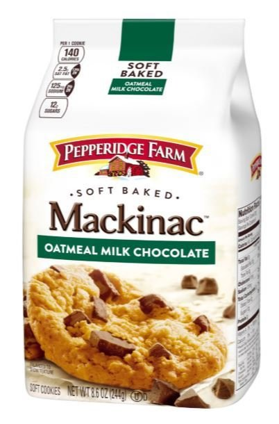 Cookies, Pepperidge Farm® Mackinac™ Oatmeal Milk Chocolate Cookies (8.6 oz Bag)