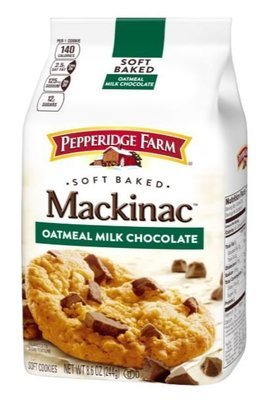 Cookies, Pepperidge Farm® Mackinac™ Oatmeal Milk Chocolate Cookies (8.6 oz Bag)
