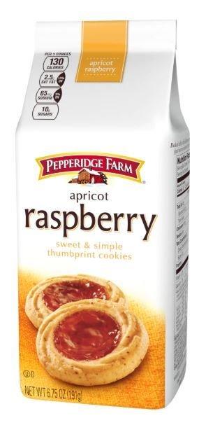 Cookies, Pepperidge Farm® Sweet & Simple™ Thumbprint Cookies, Raspberry Apricot (6.75 oz Bag)