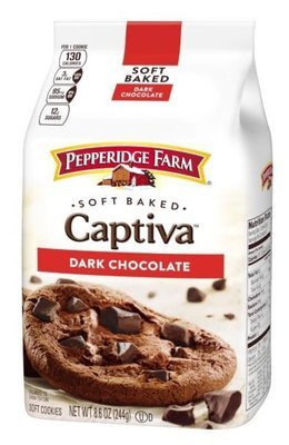 Cookies, Pepperidge Farm® Captiva™ Soft Baked Dark Chocolate Brownie Cookies (8.6 oz Bag)