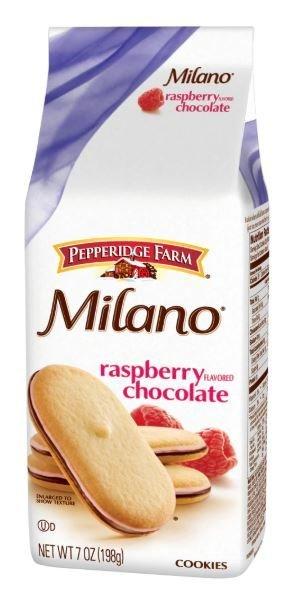 Cookies, Pepperidge Farm® Milano™ Raspberry Chocolate Cookies (7 oz Bag)