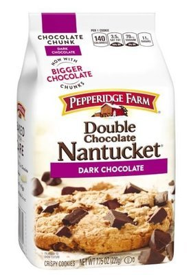 Cookies, Pepperidge Farm® Nantucket™ Double Dark Chocolate Cookies (7.75 oz Bag)