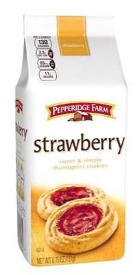 Cookies, Pepperidge Farm® Sweet & Simple™ Thumbprint Cookies, Strawberry (6.75 oz Bag)