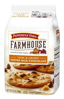 Cookies, Pepperidge Farm® Farmhouse™ Toffee Milk Chocolate Cookies (6.9 oz Bag)