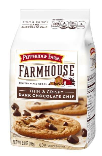 Cookies, Pepperidge Farm® Farmhouse™ Dark Chocolate Cookies (6.9 oz Bag)