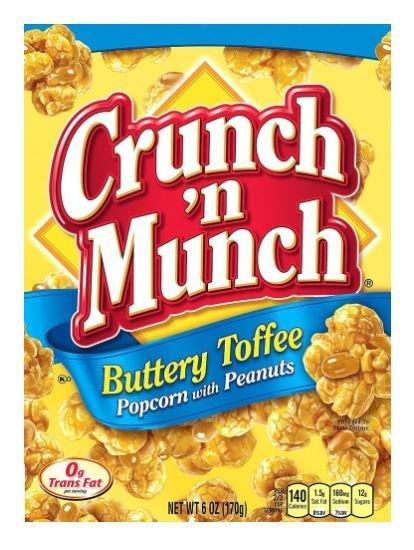 Popcorn, Crunch 'N Munch® Gourmet Buttery Toffee Popcorn (6 oz Box)