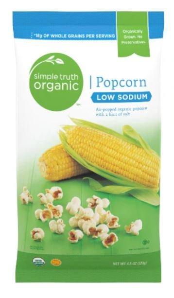 Popcorn, Simple Truth Organic™ Low Sodium Popcorn (4.5 oz Bag)
