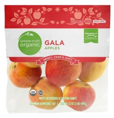 Organic Fresh Apples, Simple Truth Organic™ Gala Apples (2 lb Bag)