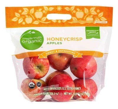 Organic Fresh Apples, Simple Truth Organic™ Honeycrisp Apples (2 lb Bag)