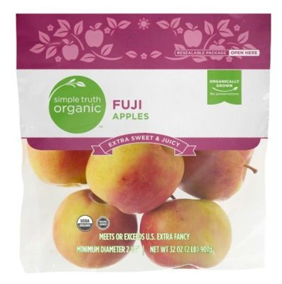 Organic Fresh Apples, Simple Truth Organic™ Fuji  Apples (2 lb Bag)