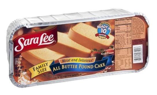 Cheesecake, Sara Lee® Moist & Delicious™ All Butter Pound Cake (16 oz Box)