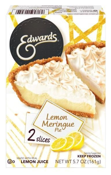 2 Pie Slices, Edwards® Lemon Meringue Pie (Two 2.85 oz Slices)