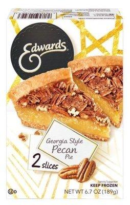 2 Pie Slices, Edwards® Georgia Style Pecan Pie (Two 3.35 oz Slices)