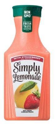 Juice Drink, Simply Lemonade® Lemonade with Strawberry (52 oz Bottle)
