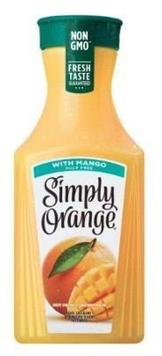 Juice Drink, Simply Orange® Orange Juice with Mango (52 oz Bottle)