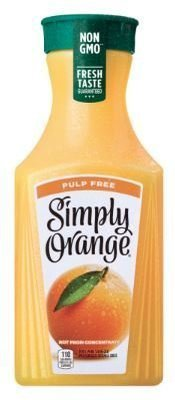 Juice Drink, Simply Orange® Orange Juice with No Pulp (52 oz Bottle)