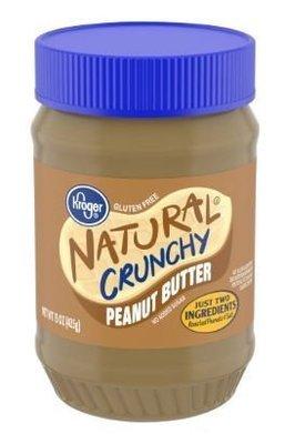Peanut Butter, Kroger® Natural Crunchy Peanut Butter (15 oz Jar)