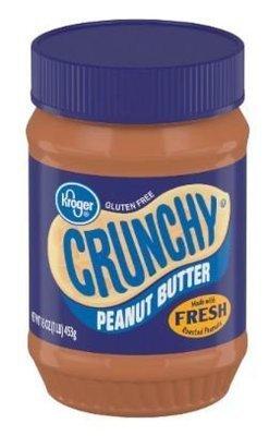 Peanut Butter, Kroger® Crunchy Peanut Butter (15 oz Jar)