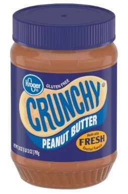 Peanut Butter, Kroger® Crunchy Peanut Butter (28 oz Jar)