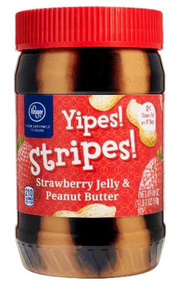 Peanut Butter Blend, Kroger® Yipes! Stripes! Strawberry Jelly & Peanut Butter (18 oz Jar)