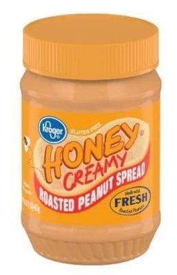 Peanut Butter, Kroger® Honey Creamy Roasted Peanut Spread (16 oz Jar)