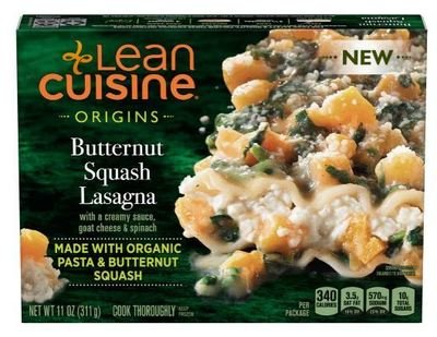 Frozen Lasagna, Lean Cuisine® Origins™ Butternut Squash Lasagna (11 oz Box)