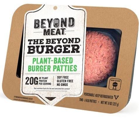 Vegan Burger Patties, Beyond Meat® The Beyond Burger™ Plant Based Patties (8 oz Box)