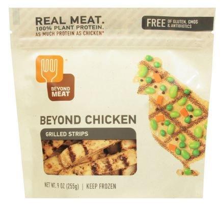 Vegan Chicken, Beyond Meat® Beyond Chicken™ Grilled Chicken-Free Strips (9 oz Bag)