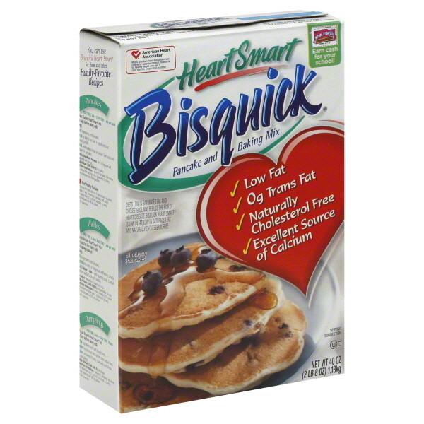 Pancake Mix, Betty Crocker® Bisquick® Heart Smart Pancake and Waffle Mix (40 oz Box)