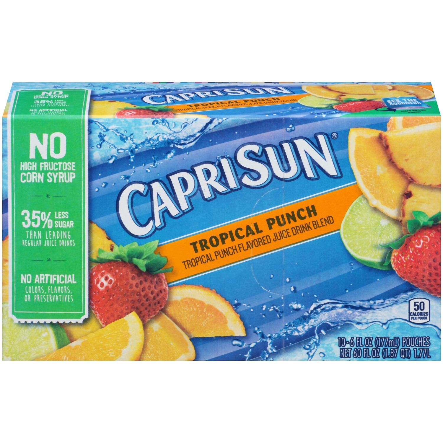 Juice Drink, Capri Sun® Tropical Punch, Single 6 oz Packet