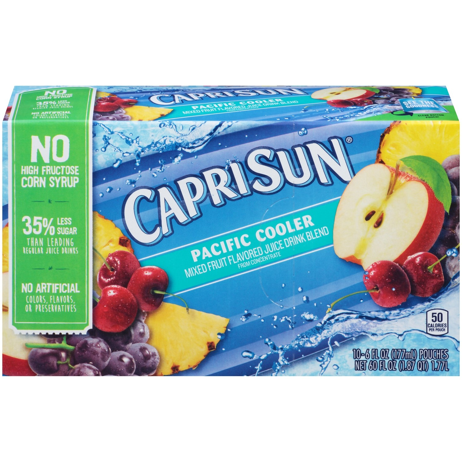 Juice Drink, Capri Sun® Pacific Cooler, Single 6 oz Packet
